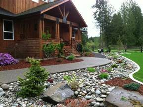 River Rock Garden Ideas Beautiful Home And Gardens River Rock Landscaping Ideas Pictures Design