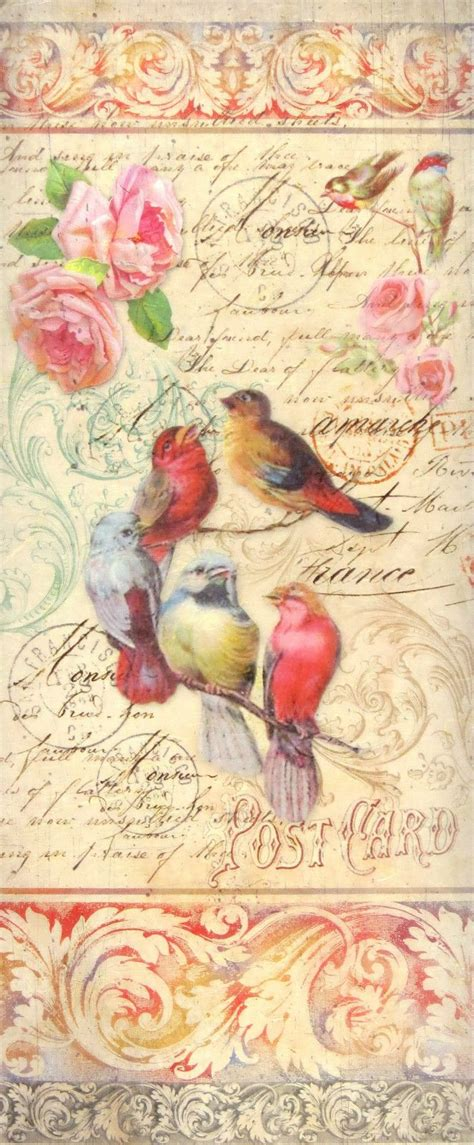 How To Decoupage With Scrapbook Paper - 81 best decoupage ptaki images on bird