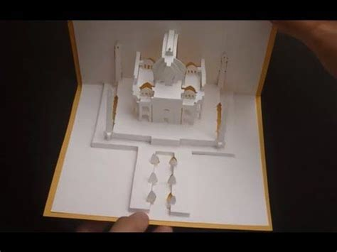 rohan cards templates pop up taj mahal card tutorial origamic architecture