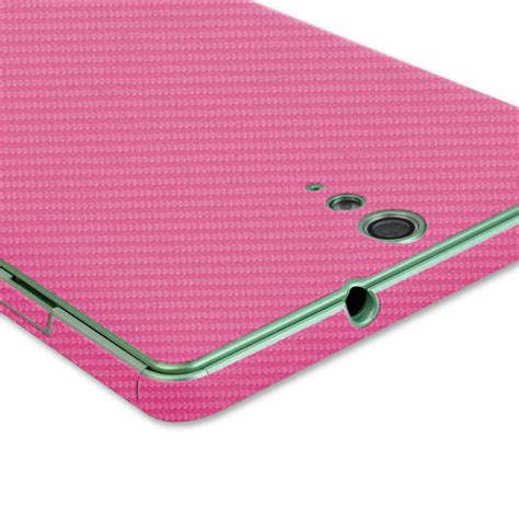 Skin Protector For Sony C5 3m Black Carbon skinomi techskin sony xperia c5 ultra pink carbon fiber skin protector