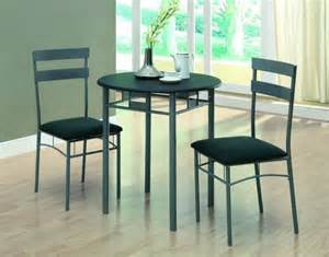 Small Black Kitchen Table And Chairs Furniture Grey Iron Kitchen Table With Two Chair Using Black Upholstered Seat With Small