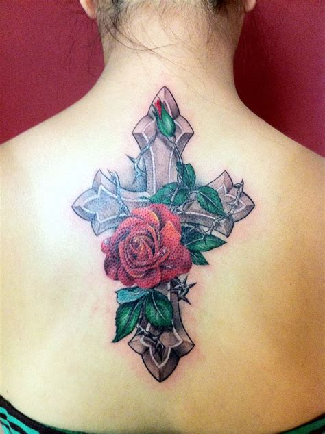 tattoo cross rose cross and rose tattoos google search tattoosmg