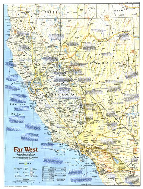 of west map of america far west map