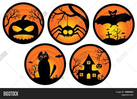 3d Sticker Vector by Set Of Halloween Stickers Vector Stock Vector Stock