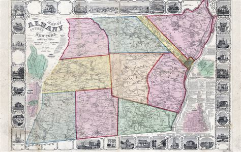 map albany ny albany county history collaborative