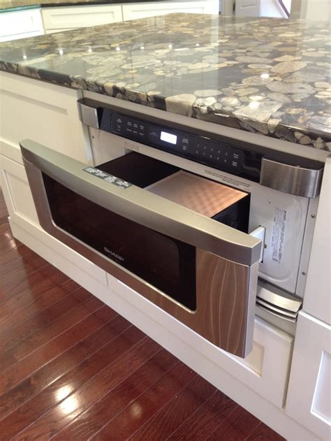 microwave in kitchen island drawer microwave in kitchen island j hall homes inc