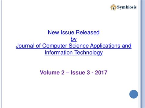 Journal Comtech Vol 8 No 2 2017 journal of computer science applications and information technology