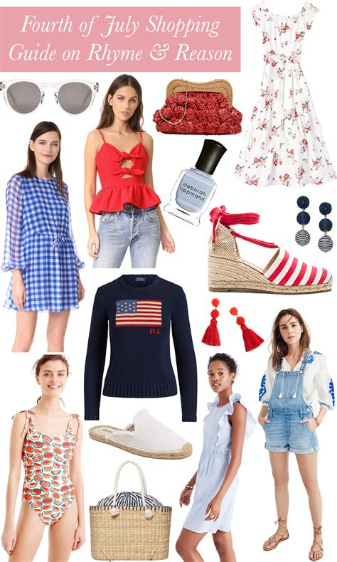 shopping guide juli 2017 bloggers and brands fourth of july shopping guide for red white and blue