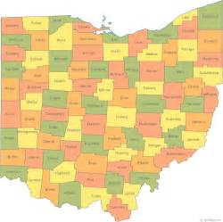 County Map Ohio by Online Maps March 2012