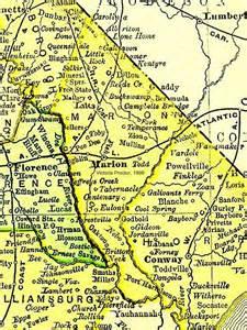 marion carolina map marion county south carolina 1895 map