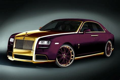 2012 Rolls Royce Ghost Paris Purple Luxury Gold Car