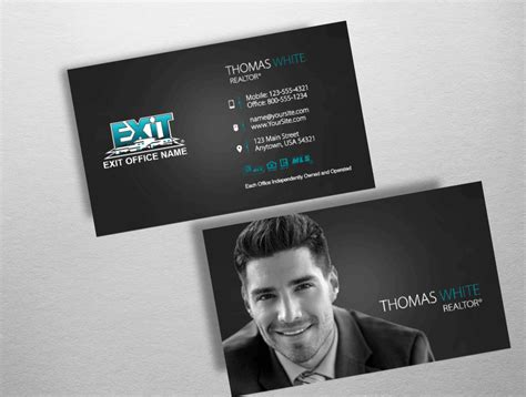 exit realty business cards template real estate business cards exit realty image collections