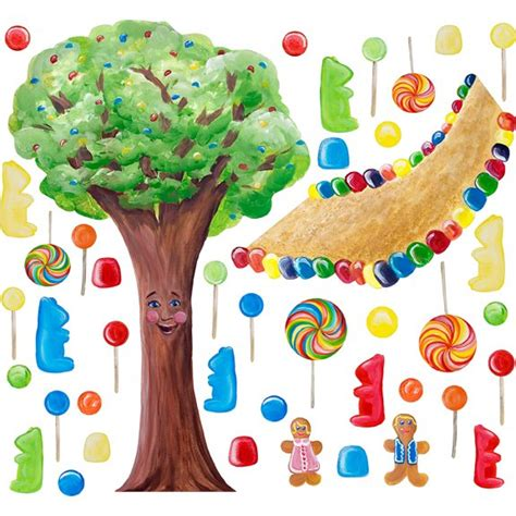 candyland wall mural cotton land whimsical tree wall sticker