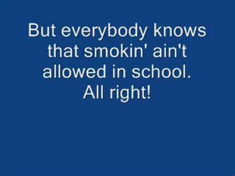 Smokin In The Boys Room Lyrics by In The Boys Room With Lyrics