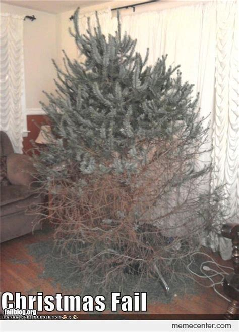 christmas tree fail by ben meme center