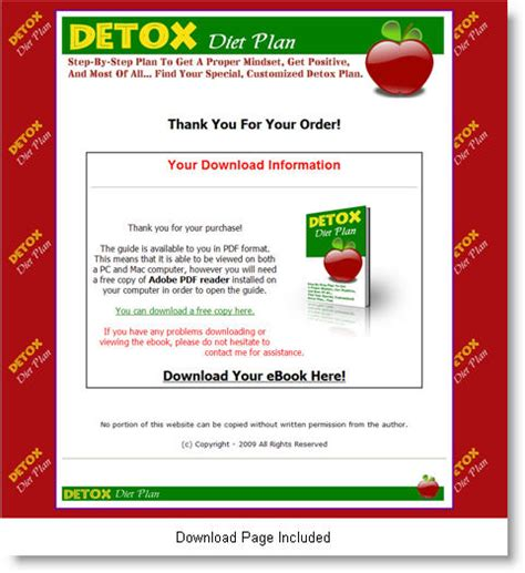 Detox Diet Pdf by Detox Diet Plan Ebook Label Rights