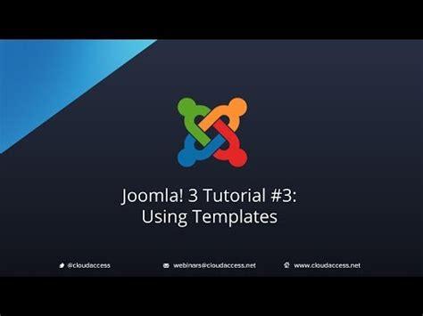 Tutorial For Joomla 3 3   joomla 3 tutorial 3 using templates youtube
