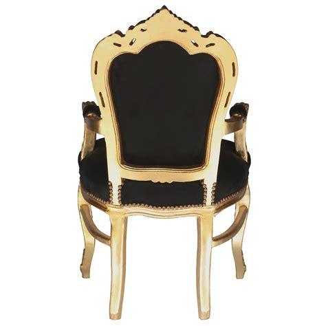 stuhl mit armlehne schwarz stuhl barock mit armlehne schwarz gold essen antik prunk