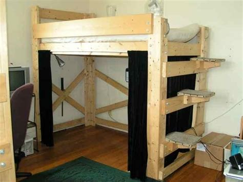loft bed plan bed plans diy blueprints