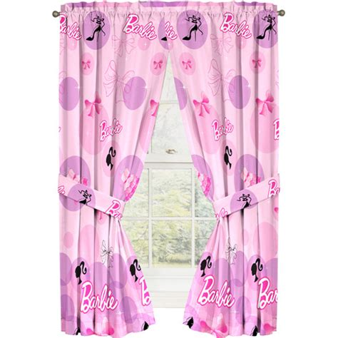 Barbie Curtain Panel Walmart Com