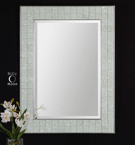 tile framed bathroom mirror 30 ideas of mosaic tile framed bathroom mirrors