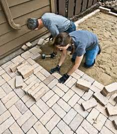 Diy Patio Pavers Diy Landscaping Garden Masonry Projects How To Install A Paver Patio Outdoor Decor