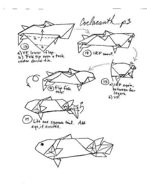 printable origami fish instructions origami fish and sea creatures