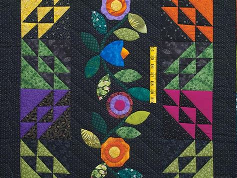 flower power quilt outstanding skillfully made amish