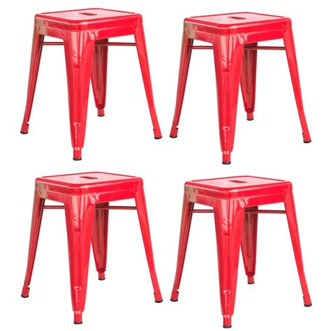 Stackable Metal Bar Stools by Amerihome Loft Style 18 In Stackable Metal Bar Stool In