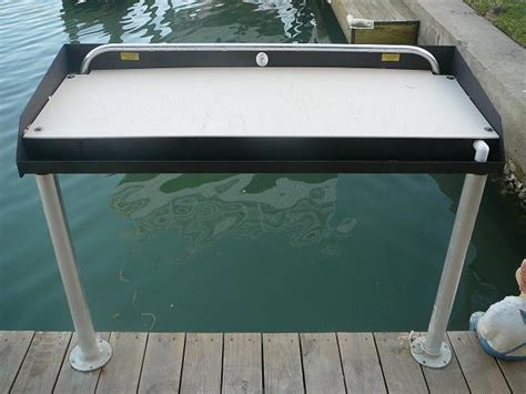 Powder Coated Aluminum Fish Cleaning Table Boat Lift