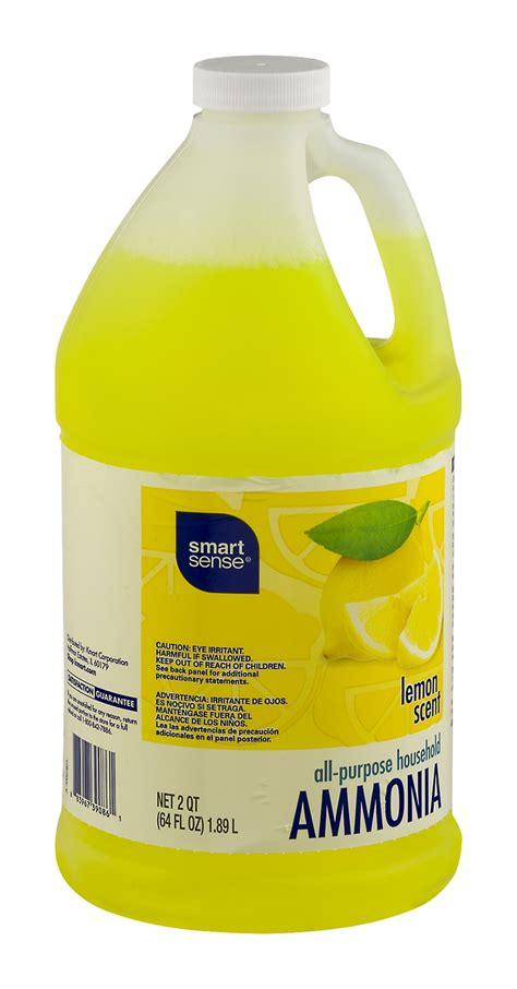 smart sense lemon scent ammonia