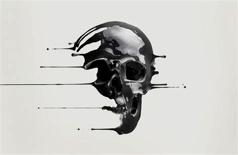 dripping skulls digital art the skull appreciaton society