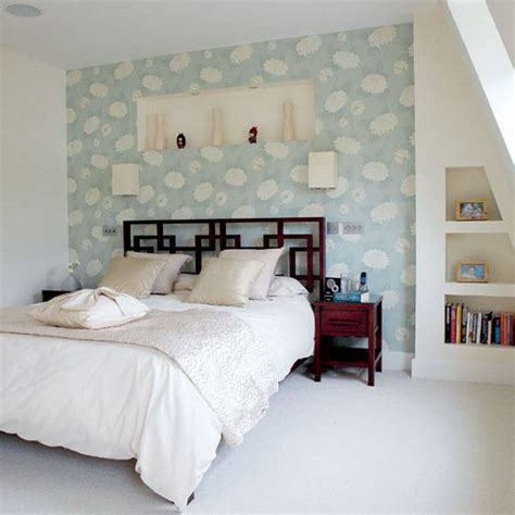 bed wallpaper ways to add color to white interiors of your home design