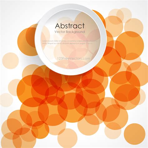 background design vector format abstract orange circle design background banner vector