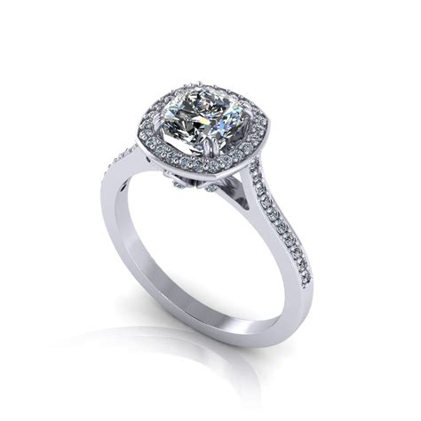 ring jewelry cushion halo engagement ring jewelry designs