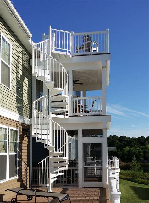 ideas house 12 breathtaking deck design ideas salter spiral stair