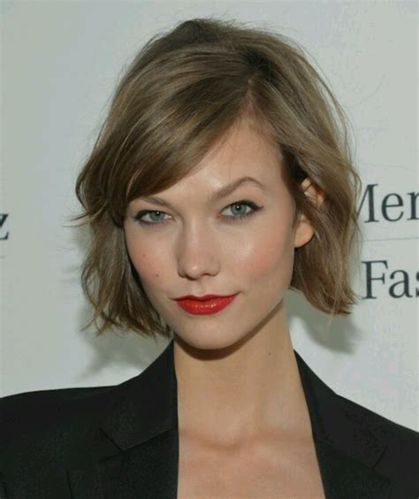 karlie kloss hair color chic bob with side bangs bobs womenscut bestofbeauty