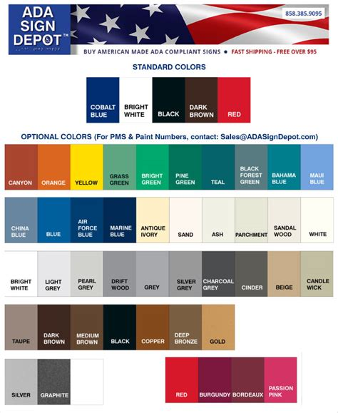 american spirit color chart ada signs handicap parking signs ada truncated domes