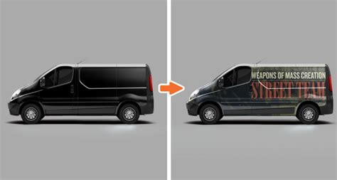 van design mockup vehicle mockup templates pack