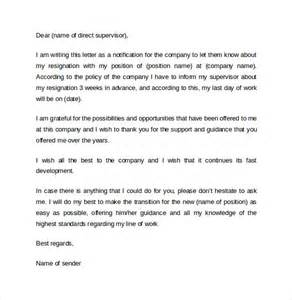 Sle Of Professional Resignation Letter by Sle Professional Letter Format 10 Free Documents In Pdf Word