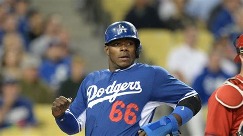 why was puig benched yasiel puig was late for work friday got benched