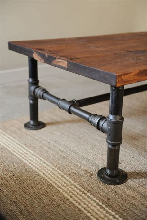diy coffee table pipe legs diy coffee table projects the budget decorator