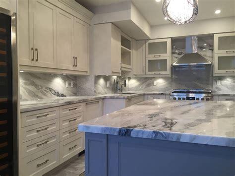 Mont blanc quartzite kitchen and full backsplash