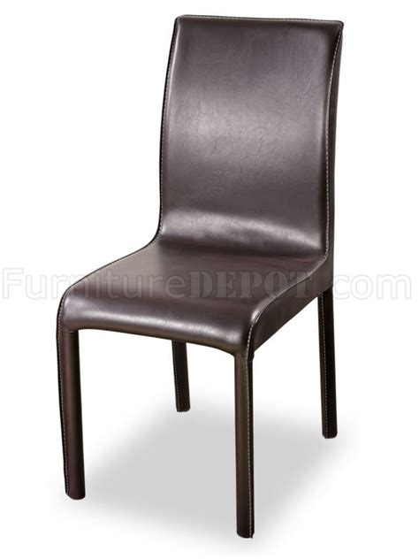 Leather Match Upholstery by Leather Match Upholstery Two Dining Chairs W White Stitchings