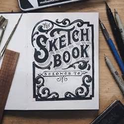 sketchbook cover ideas instagram foto vantypographyinspired this sketchbook