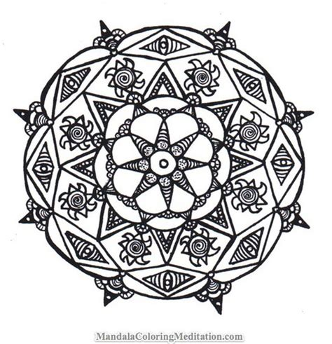 black and white coloring pages designs mandala coloring page a handmade black white mandala