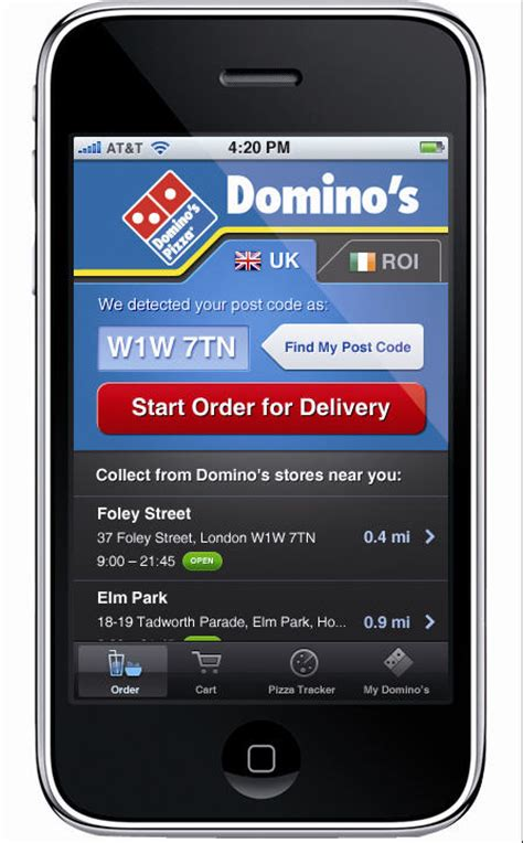 domino pizza app domino s iphone app pizza sales top 163 1 million
