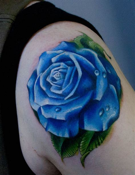 tattoos of blue roses the blue collection