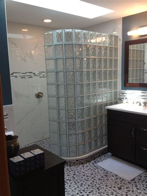 bathroom glass blocks glass block walk in shower innovate building solutions