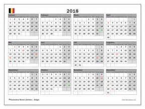 Kalender 2018 Belgie Kalenders Om Af Te Drukken 2018 Belgi 235